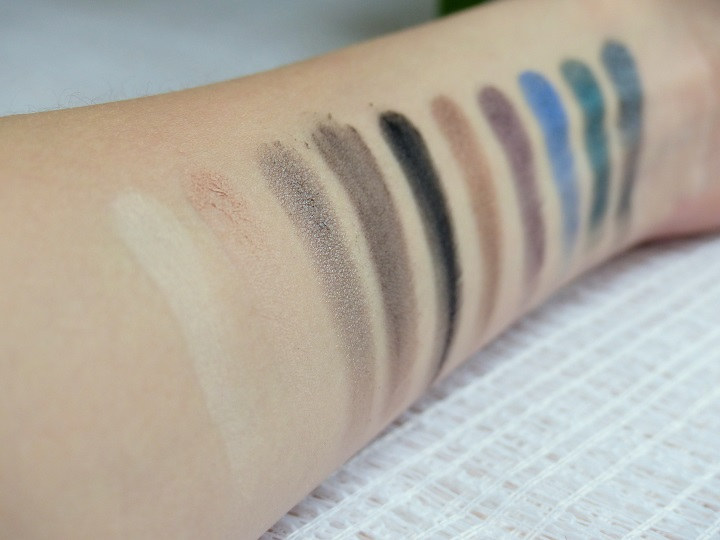 swatches MUA eyeshadow palette smokin