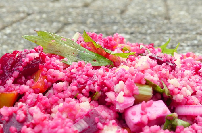 gezonde couscous salade bietjes