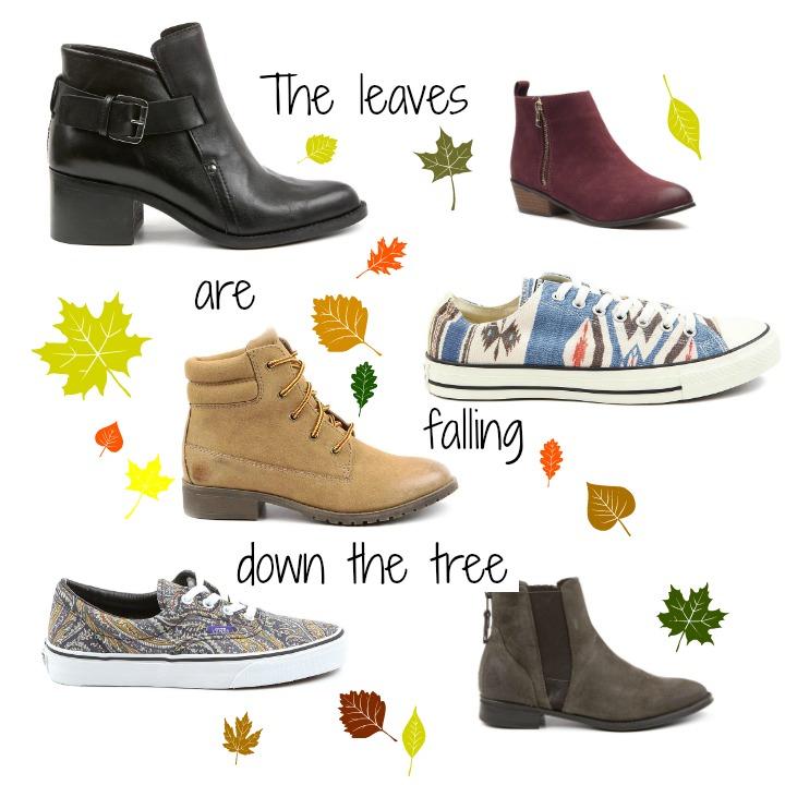 herfst schoenen collage