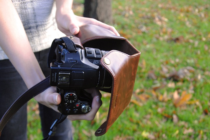leren camerahoes megagear