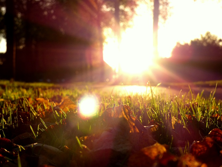 zonsondergang herfst