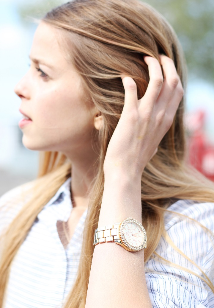 rosé gouden horloge
