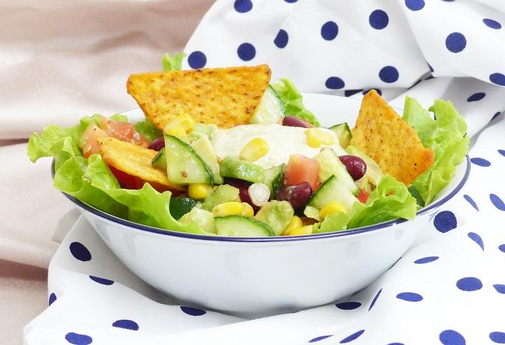 salade nacho avocado