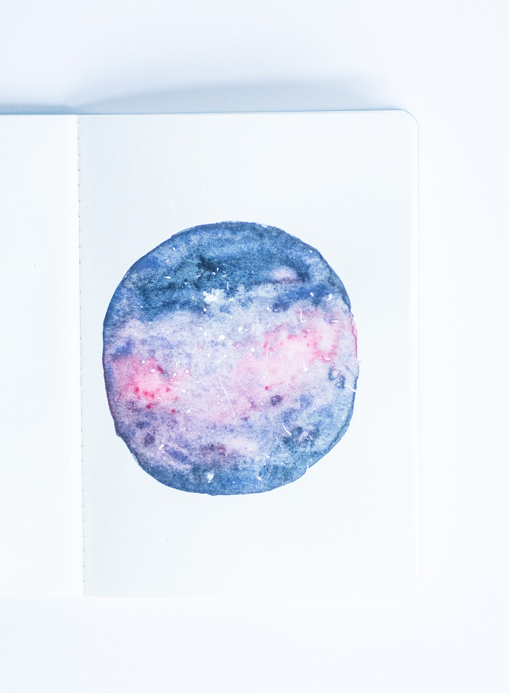 water color galaxy