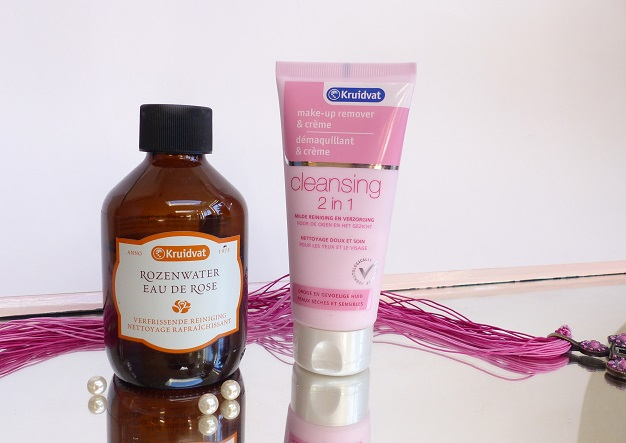 gezicht verzorgen rozen water creme cleanser kruidvat