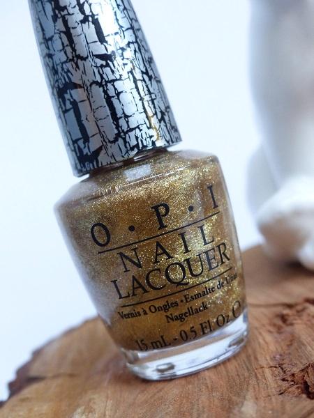 Opi crackle nail polish gold review