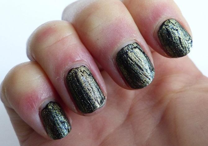 opi crackle nail polish reviw gold
