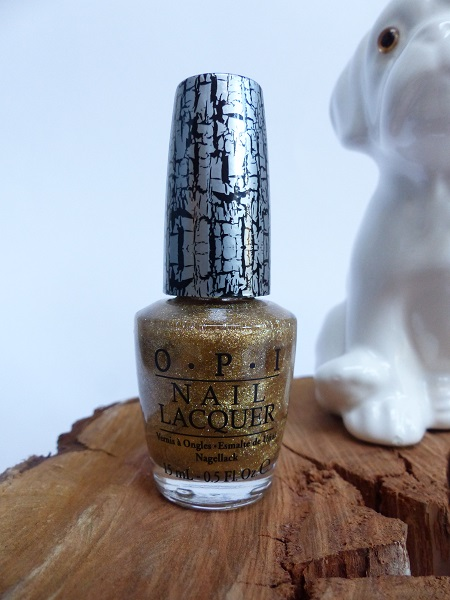 opi nail lacquer crackle gold