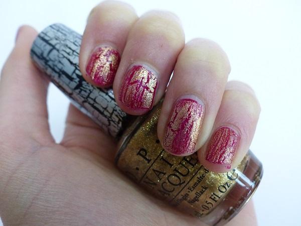 opi nail polish crackle gold review