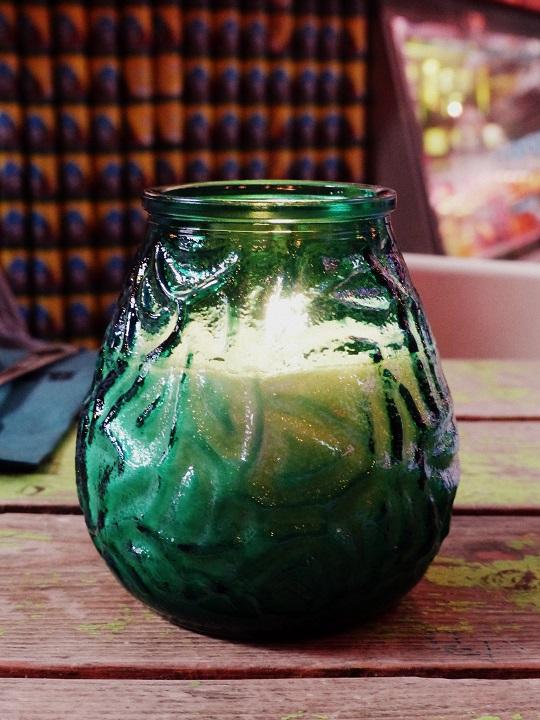 kaars in glazen pot