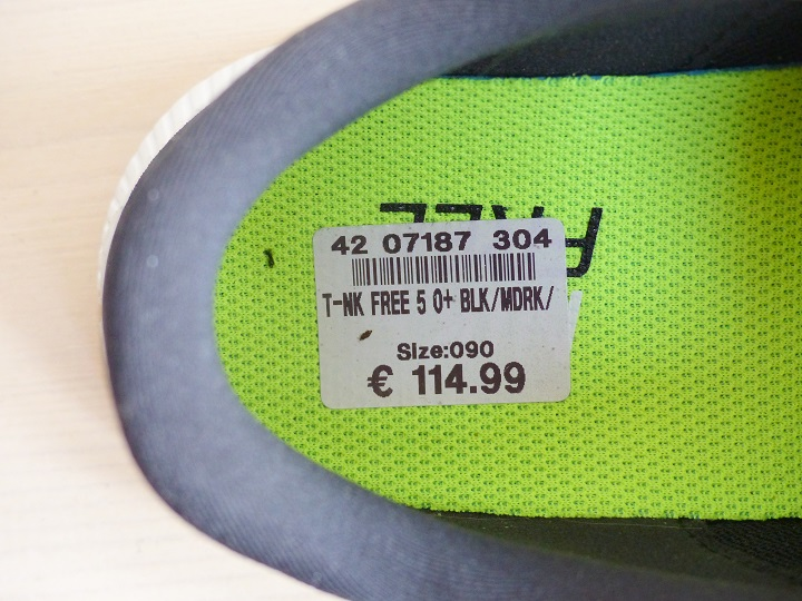 prijs nike free run 5.0 black