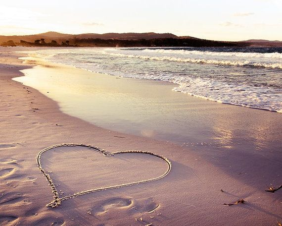 heart at beach
