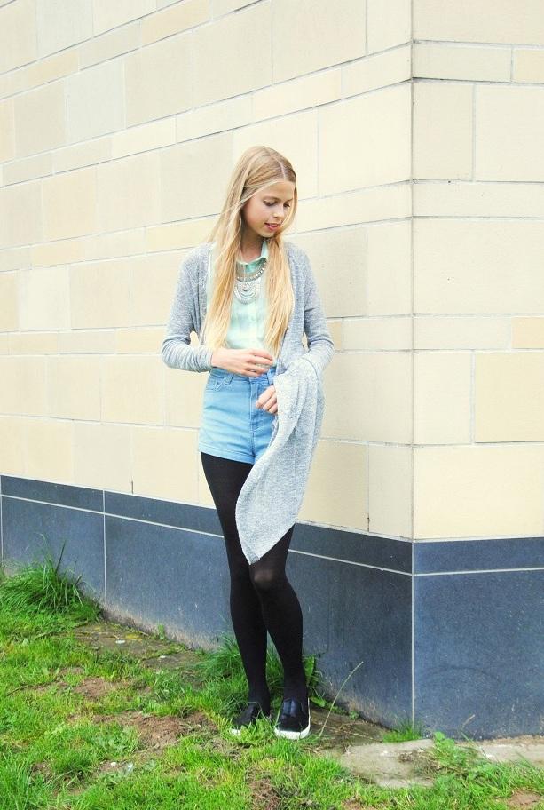 how to wear long cardigan