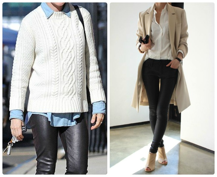 inspiration leather trousers