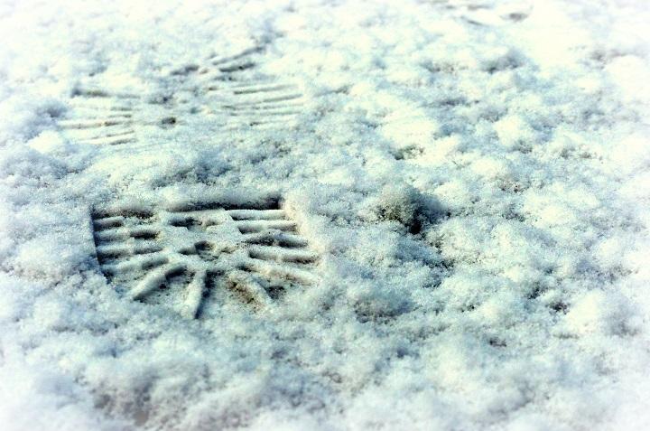 voetstap sneeuw