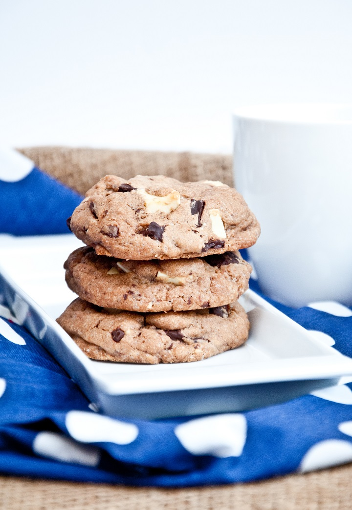 recept triple chocolate cookie