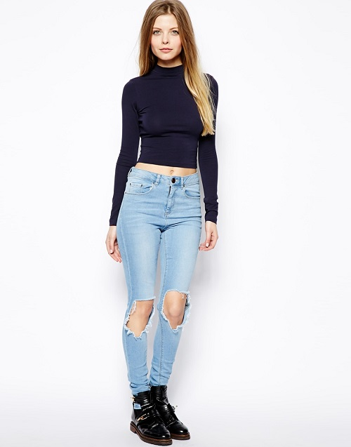 turtle neck crop to