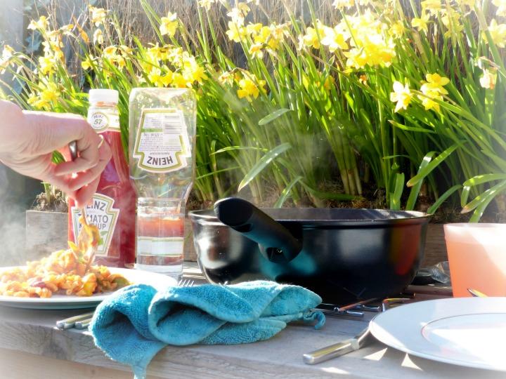 buiten eten lente