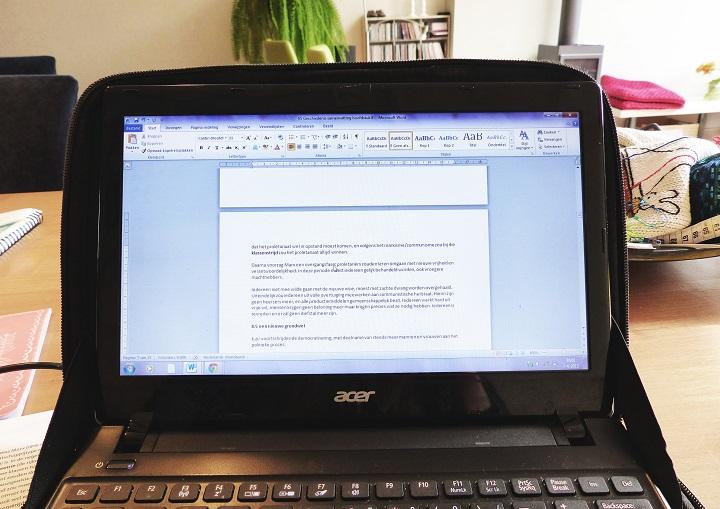 leren laptop