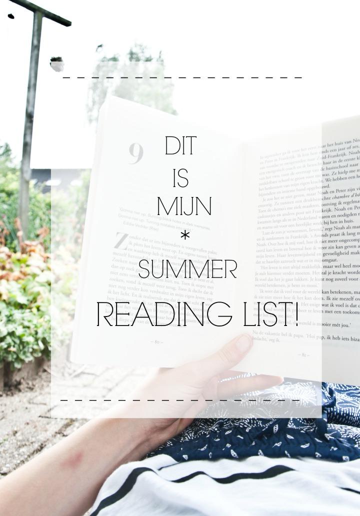 zomer boeken lijst