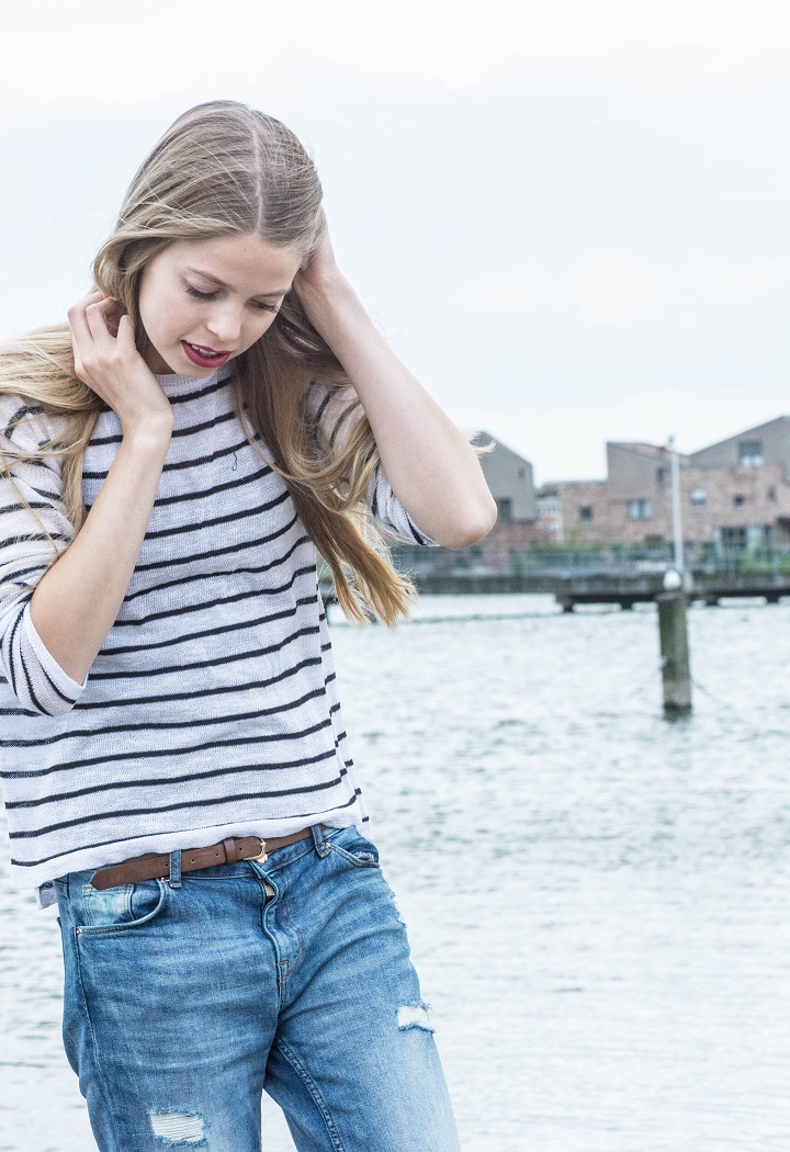 outfit streepjes shirt