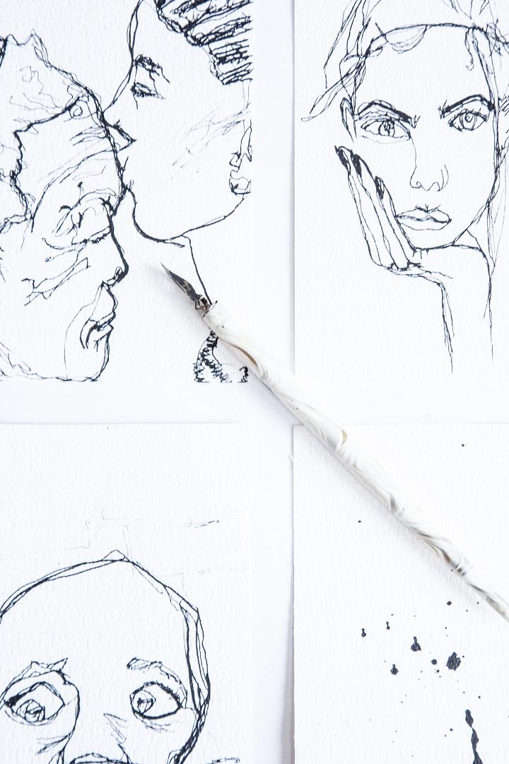tekening inkt