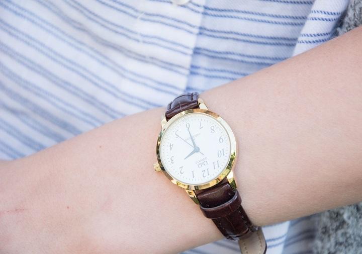 horloge bruin leren bandje