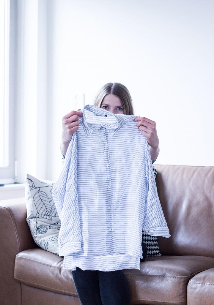 minimalistische blouse