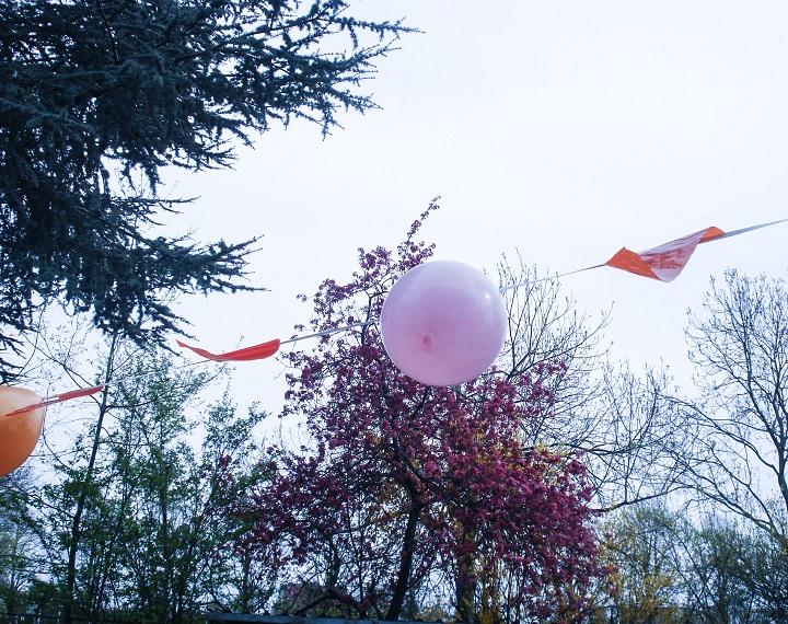 laatste schooldag ballon