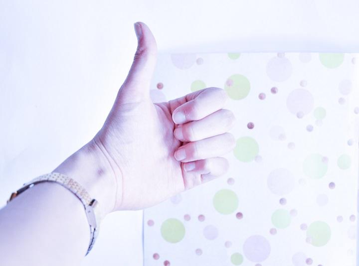 duim omhoog