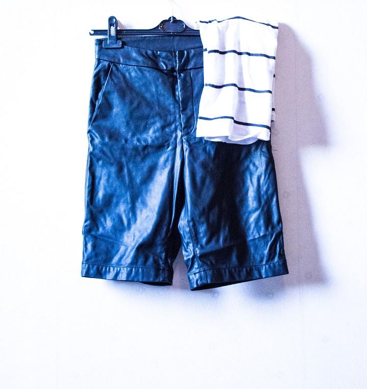 leather bermuda