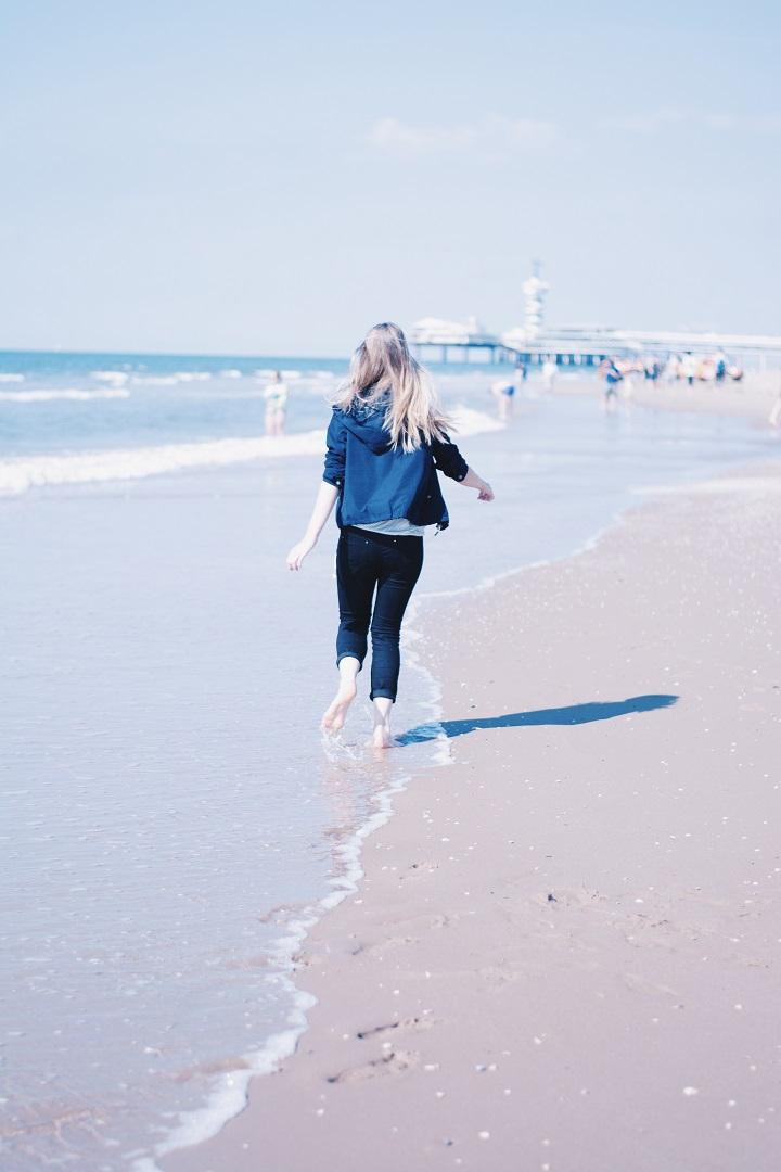 rennen over strand