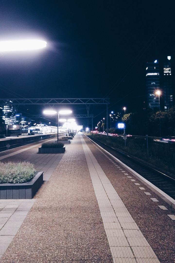 station amsterdam zuid avond
